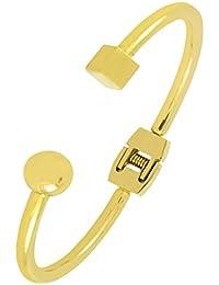 Italian Designer 18K Gold 316L Surgical Stainless Steel Cuff Kada Bangle Bracelet For Girls Women