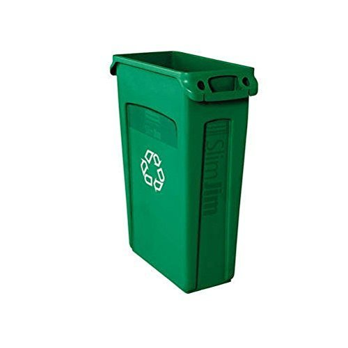 slim-jim-recycling-container-w-venting-channels-plastic-23-gal-green-by-rubbermaidcommercial