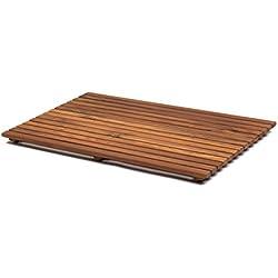 AsinoX TEK4A5080 - Tarima de ducha y baño, madera de teca
