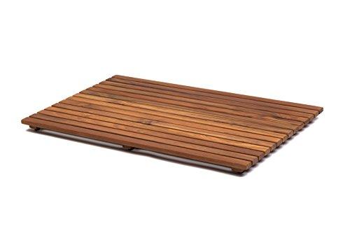 AsinoX Tarimas de Ducha y baño, Madera, Natural, 50 x 80 cm