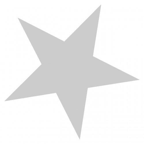 Stern Aufkleber gefüllt in 11 Größen und 25 Farben (15x15cm silbermetalleffekt) Mädchen Fenster Aufkleber Für Autos