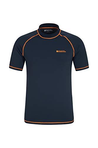 Mountain Warehouse Camiseta térmica con protección Solar UV para Hombre - Camiseta térmica con protección Solar UV UPF50+, Top térmico de Secado rápido, Costuras Planas Naranja M