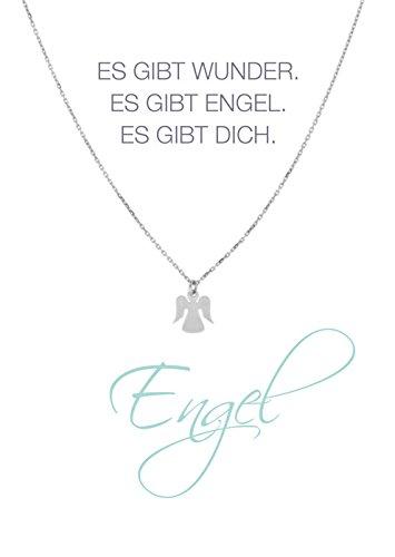 HERZ-KARTE Kette Engel silber 925/- Sterlingsilber