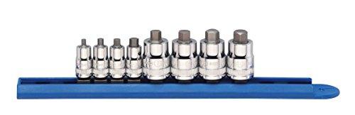 GearWrench 802818PC. 1/10,2cm & 3/20,3cm Antrieb Stubby Hex Bit Metrisches Socket Set, schwarz