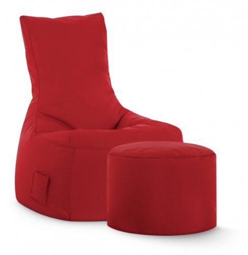 SITTING POINT only by MAGMA Sitzsack-Set Scuba Swing + Hocker rot (Swing-sets Teile)