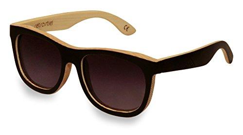 Preisvergleich Produktbild Holz Sonnenbrille Overseer Black & White