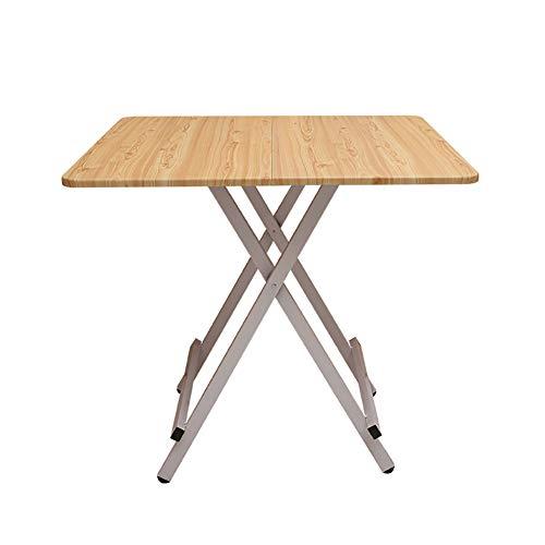 Table pliante YXX carrée en Bois pour la Cuisine, Bureau d'ordinateur en Bois pour Le Bureau à la Maison avec Pieds en Acier, 80x80x74cm (Couleur : #2)
