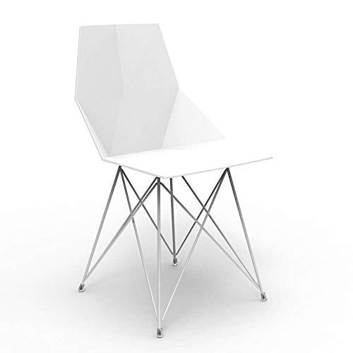 Vondom Faz chaise avec pieds en métal verni blanc