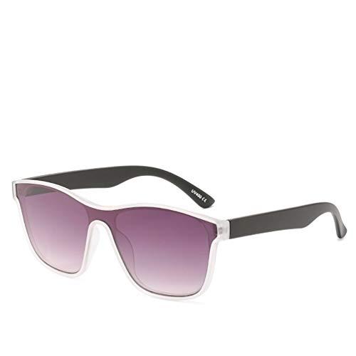 YWYU Neue Trend Persönlichkeit Sonnenbrillen, Einteilige Sonnenbrillen Brillenmode Europa und Amerika Männer und Frauen mit der gleichen Sonnenbrille (Farbe : B)