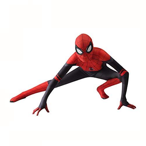 BLOIBFS Spiderman Cosplay Kostüm Herren,Superheld Weihnachten Verkleidung Halloween Film Kostüm Requisiten,Adult-XL