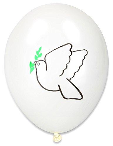 Generique - 10 Ballons imprimés colombe paix