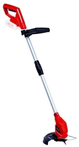 Einhell Akku-Rasentrimmer GC-CT 18/24 Li - Solo Power X-Change (Li-Ion, individuell einstellbarer Teleskop-Führungsholm und Zusatzhandgriff, Flowerguard, inkl. 20 Kunststoffmesser)