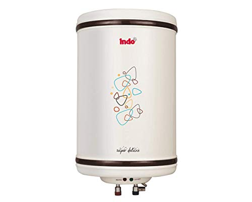 Indo Super Deluxe Storage Water Geyser with Steel Tank (15 L, Ivory)