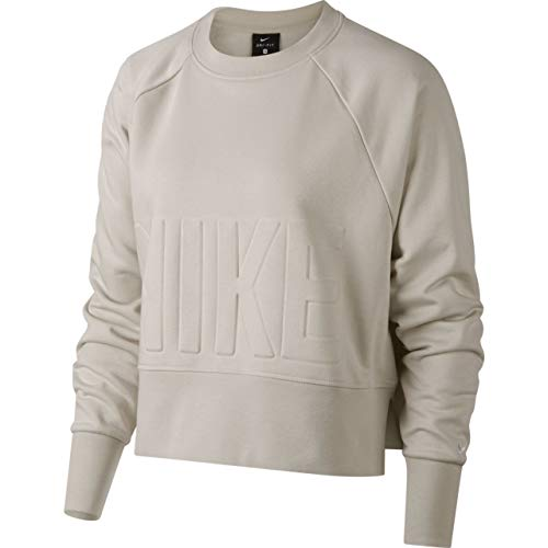 Nike Damen Cropped Trainingssweat Sweatshirt, beige, L-44/46 -