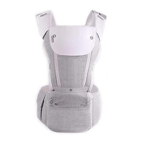 Baby-Fördermaschine for Neugeborene - Babytragen Vorder- und Rückseite, Winkel einstellbar Ergonomische Baby-Rucksack-Fördermaschine for Säuglings- bis zu 55 Lbs / 25 kg (Color : Gray)