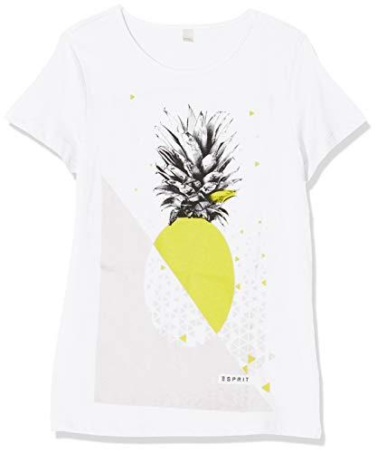 ESPRIT KIDS Mädchen SS Pine T-Shirt, Weiß (White 010), 152 (Herstellergröße: M)
