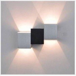 SHIEND Led - Lampe Modernen Minimalistischen Bett Lampe Wand Lampe Schlafzimmer Wohnzimmer - Tv Kreative Persönlichkeit Kreative Lampe,Linke,Recht,Hohe,- 6 - Watt - Warm - Weißes Licht