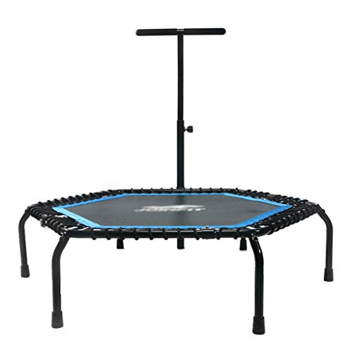 GXY Trampolin Haushaltstrampolin Trampolin für Erwachsene Gymnastik Faltbares Trampolin Höhenverstellbares Trampolin Kann 150 kg tragen (Color : Blue, Size : 127 * 30 * 113)