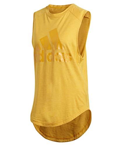 adidas Performance Damen Trainingsshirt ID Winners Muscle Tee Ärmellos gelb (510) L -