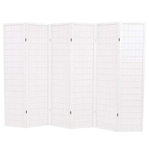 VidaXL Biombo Plegable 6 Paneles Estilo Japonés 240x170cm