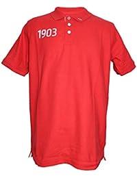 Atlético de Madrid Polo Rojo - 1903 Blanco con Escudo Nuevo en la Manga Izquierda -