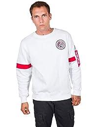 Alpha Industries Men Sweatshirt Apollo 15, Farbe:White, Größe:2XL
