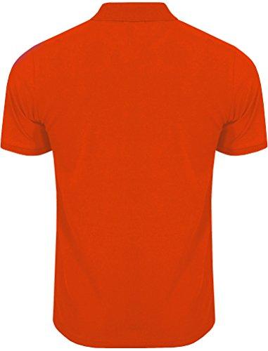 Tokyo Laundry Herren Penn State Klassisch Kurzarm Poloshirt Größe S-XXL Orange