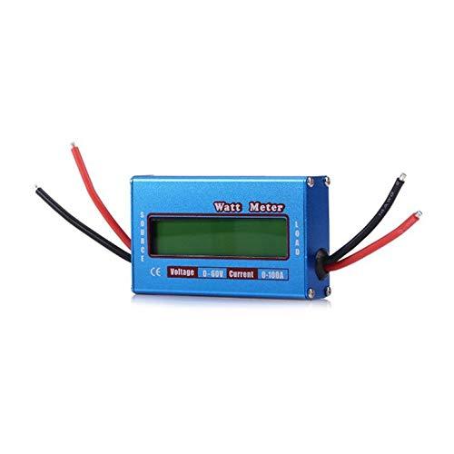 Goldyqin Mini tragbare Wattmeter Digital LCD für DC 60V / 100A Balance Spannung RC Batterieleistung Watt Power Analyzer - Blau Wattmeters