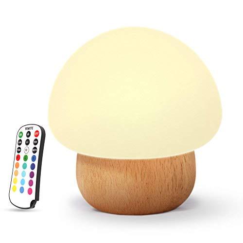 NNIUK Veilleuse Enfant Bébé, Lampe de chevet de bébé en silicone avec télécommande pour les chambres, Enfants mignons Changement de couleur Réglage de la luminosité Lampe d'allaitement Nursery.