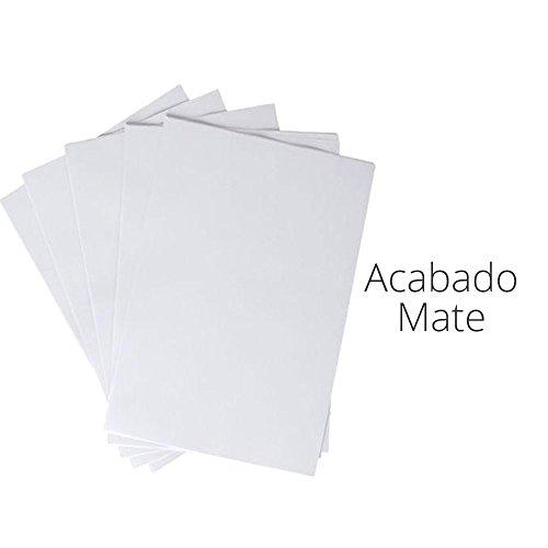 GOLINIT - Etiquetas adhesivas Blanco Mate Super Adherente para todo tipo impresora (A4, 50, 100, 250, 500, 1000 unidades) (500)