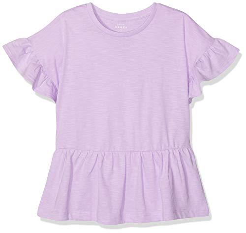 NAME IT Mädchen NKFVILONA SS TOP H T-Shirt, Violett (Lavendel Lavendula), 158 (Herstellergröße: 158-164) -