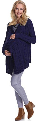 Be mammy cardigan premaman v3c86 (blu marino, l/xl)