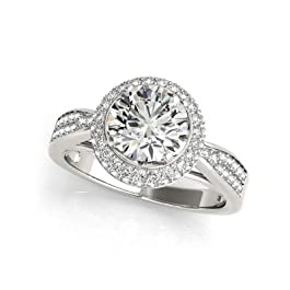 2.00 carati diamante solitario taglio rotondo solido bianco 14 K oro 18 K anello donna gioielli vendita online