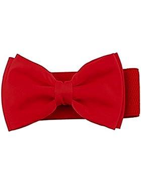 Westeng Cinturón elástico arco Femenino Siete colores (Rojo)