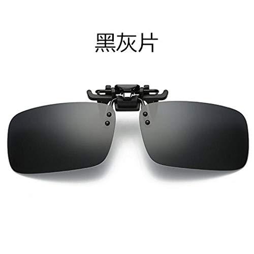 CYCY Nachtsichtbrille Sonnenbrille Sonnenbrille für Männer und Frauen polarisierte Gläser Tag und Nacht Fahren, tägliche graue Folie polarisierte Klammer + Testkarte + Klammerbox -