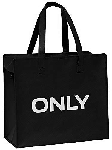 ONLY TASCHE Shopping Bag Umhänge Shopper Einkaufs Schulter Tasche Neu (schwarz)