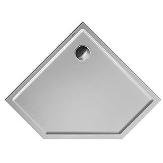 Duravit Plato de ducha Duravit STARCK Slimline pentagon m antideslizante 1000x1000x45mm blanco