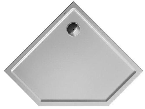 31Xjr18oQvL - Duravit Plato de ducha Duravit STARCK Slimline pentagon 1000x1000x45mm blanco