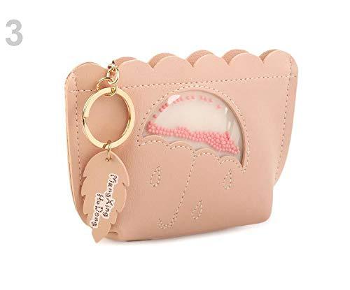 1stück 3 Rosa Portemonnaie, Geldbörsen Und Schlüsseltaschen, Ausweistaschen, Maniküre Sets, Modisches Zubehör - Pink-münzen-geldbeutel-schlüsselanhänger