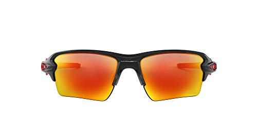 Oakley Flak 2.0 XL 9188 Gafas, POLISHED BLACK/PRIZMRUBY, 59 Hombres
