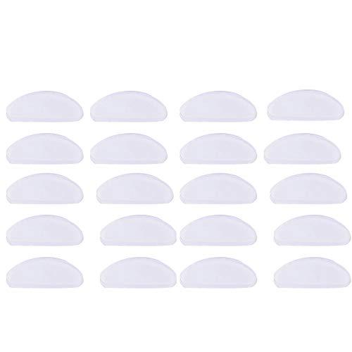 20 Paare Adhesive Nasenpads Silikon, Klar Rutschfeste Anti Rutsch Brillen Pads Klebstoff Aufkleben Weich Kissen für Gläser Brille Sonnenbrillen (Transparent, 1,5 mm)