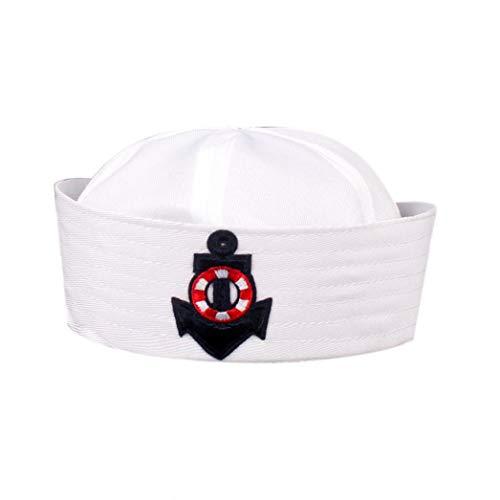 Schiff Kapitän Kostüm Junge - Culer Weiß Navy Hut Kappe Sailors