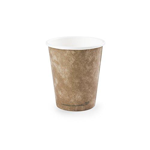 50 bicchieri usa e getta espresso (marroni) | Bicchieri coffee to go ecologici | Bicchiere di cartone per bevande calde | Bicchieri da caffè compostabili | Casparo Eco Design (Marrone)