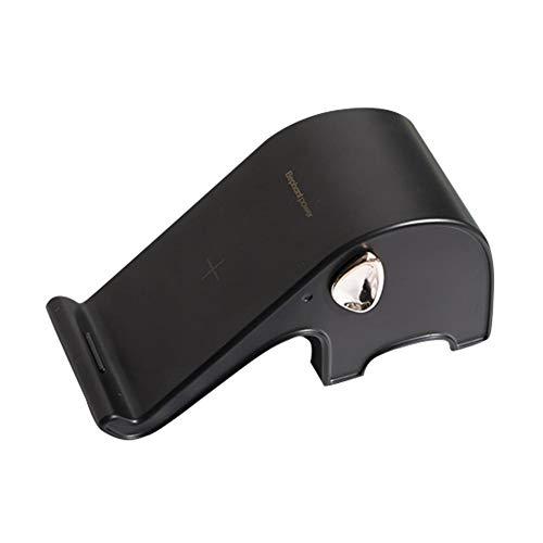 Preisvergleich Produktbild 10W Wireless Qi Ladegerät Standfuß Kit,  Liebe Elefant Geschenke,  Wireless-Ladegerät für Apple iPhone X / XS / XR / XS MAX / 8 / 8 Plus,  Samsung S9 / S9 + / S8 / S8 + (Schwarz,  Elefantenmacht)