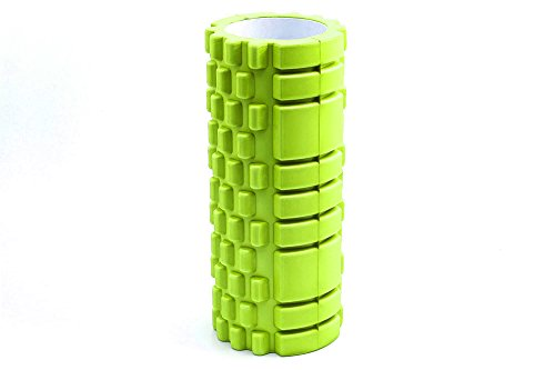 TNP-Accessories-Foam-Roller-Grid-Beast-Massage-Pilates-Trigger-Point-Yoga-Gym-Roller-Exercise-Revolutionary-Green-34cm