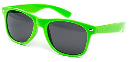 Nerdbrille Sonnenbrille Pilotenbrille Nerd Atzen Brille Brillen Neon Grün