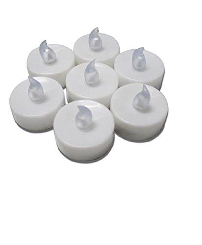 L&R Pilas Flameless parpadeo velas ligeras del té, que destella LED rojo 24-Pack