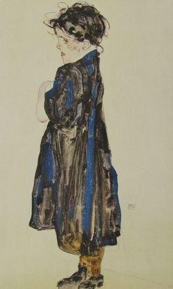 Egon Schiele Bauernmädchen 1912 Poster Bild Kunstdruck 50x36cm - Bauernmädchen