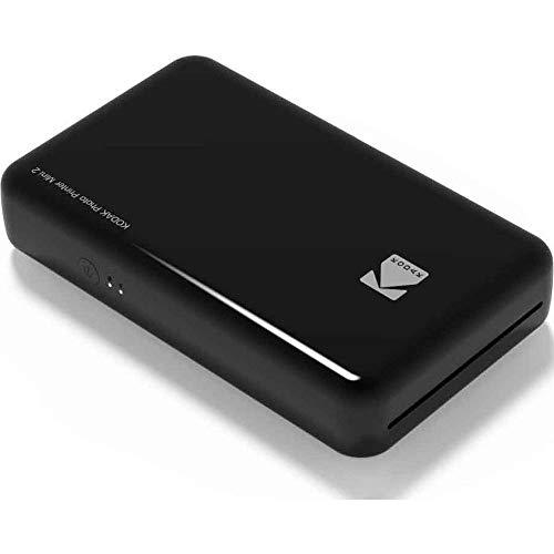Kodak-Stampante fotografica Mini 2HD, istantanea, senza fili e mobile con tecnologia di stampa brevettata 4Pass, compatibile con iOS e Android, nera