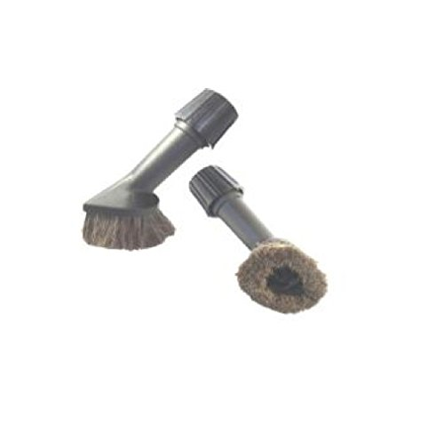 Universal Rundbürste mit dem Naturhaar geeignet für alle Staubsauger - Borstendurchmesser von 80 mm - Universalhalterung mit Dichtung 30-38 mm - Staubsauger Zubehör